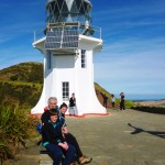 Marius, Hannah and Etienne at the Cape Reinga lighthouse