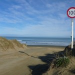 Speed limit on the beach (!)