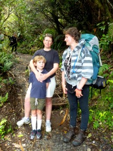 Jenny and Olivia, our solidarity walkers at Tongariro